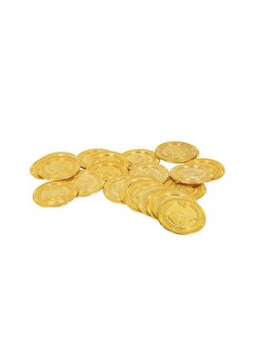 ****Gold Plastic Coins 30ct
