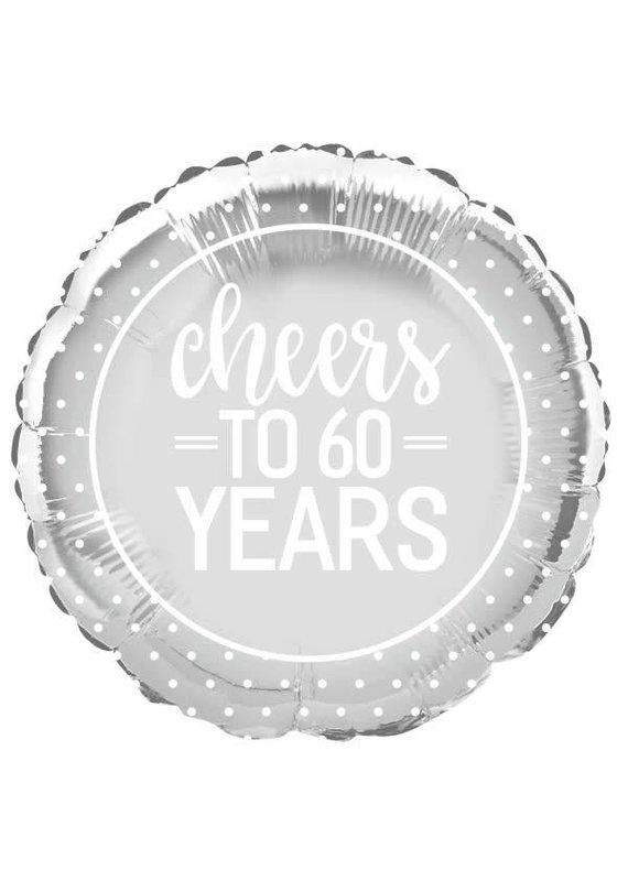 *****Cheers to 60 Years Mylar Balloon