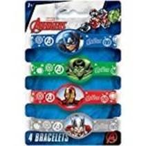 *Avengers Rubber Bracelets 4ct