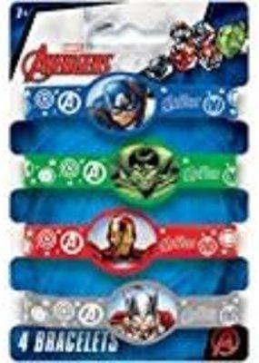 ***Avengers Rubber Bracelets 4ct