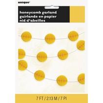 Yellow Honeycomb Garland