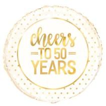 ***Cheers to 50 Years Mylar Balloon