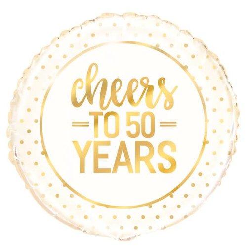 Cheers to 50 Years Mylar Balloon