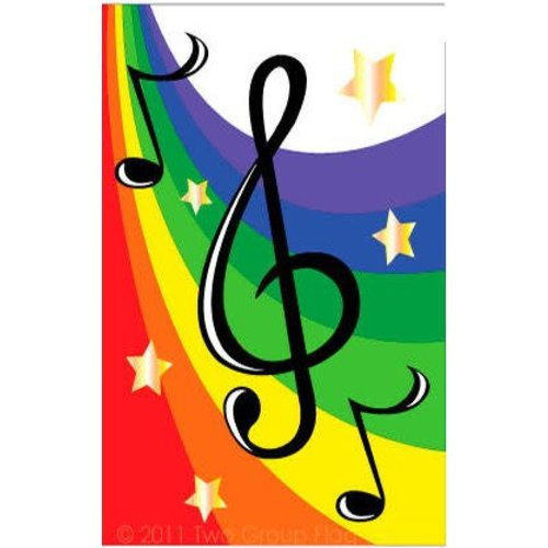Music G Clef Garden Flag