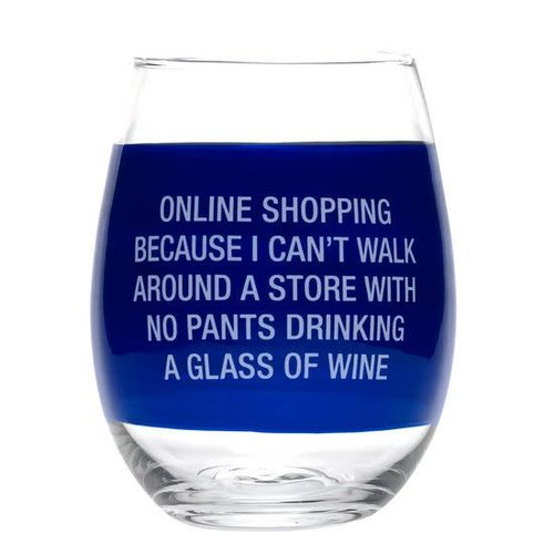 About Face Designs On-Line Shopping Wine Glass