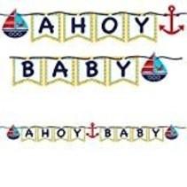 *Ahoy Matey Shaped Ribbon Banner