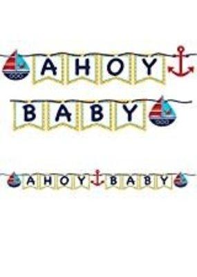 ***Ahoy Matey Shaped Ribbon Banner