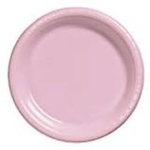 "***Classic Pink 10"" Plastic Banquet Plates 20ct"