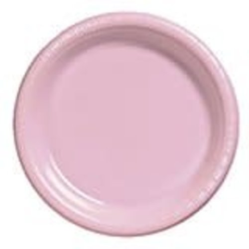 "*Classic Pink 10"" Plastic Banquet Plates 20ct"