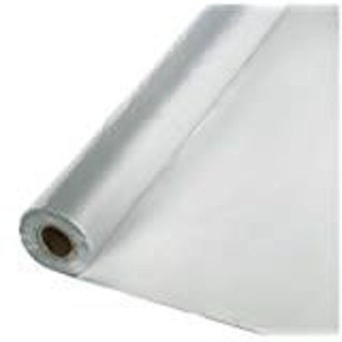 *Shimmering Silver 100' Roll Plastic Tablecover