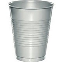 ***Shimmering Silver 16oz Plastic Cups 20ct