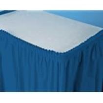 ***Navy Blue 14' Plastic Table Skirt