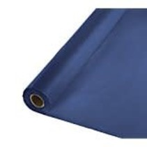 ***Navy 100' Roll Plastic Tablecover