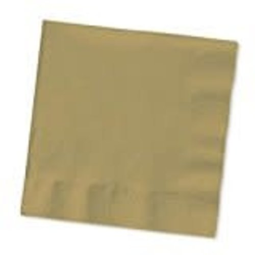 *Glittering Gold 3ply Beverage Napkins 50ct
