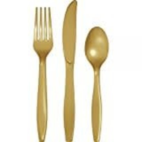 *Glittering Gold Assorted Cutlery 24ct