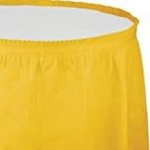 ***School Bus Yellow 14' Plastic Table Skirt