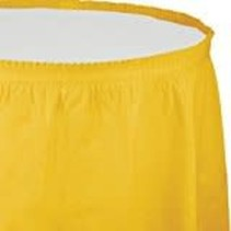 *School Bus Yellow 14' Table Skirt