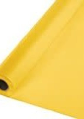 ***School Bus Yellow 100' Roll Plastic Tablecover