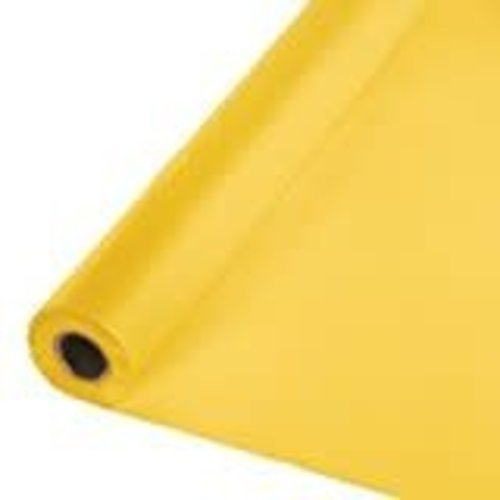*School Bus Yellow 100' Roll Plastic Tablecover