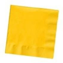 ***School Bus Yellow 3ply Beverage Napkins 50ct