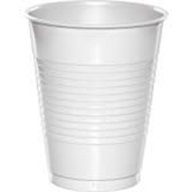 White 16oz Plastic Cups 20ct