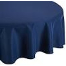 """***Navy Blue 82"""" Octy Round Plastic Tablecover"""