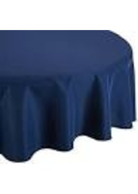 "***Navy Blue 82"" Octy Round Plastic Tablecover"
