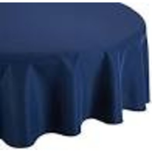 """*Navy Blue 82"""" Octy Round Plastic Tablecover"""
