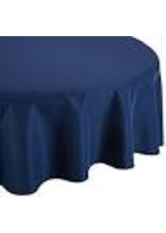 "****Navy Blue 82"" Octy Round Plastic Tablecover"