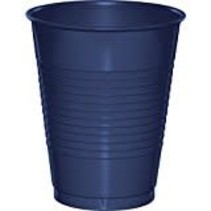 ***Navy Blue 16oz Plastic Cup 20ct