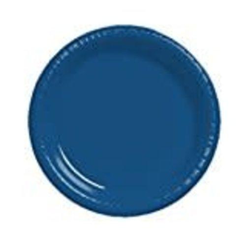 "Navy Blue 10"" Plastic Banquet Plate 20ct"