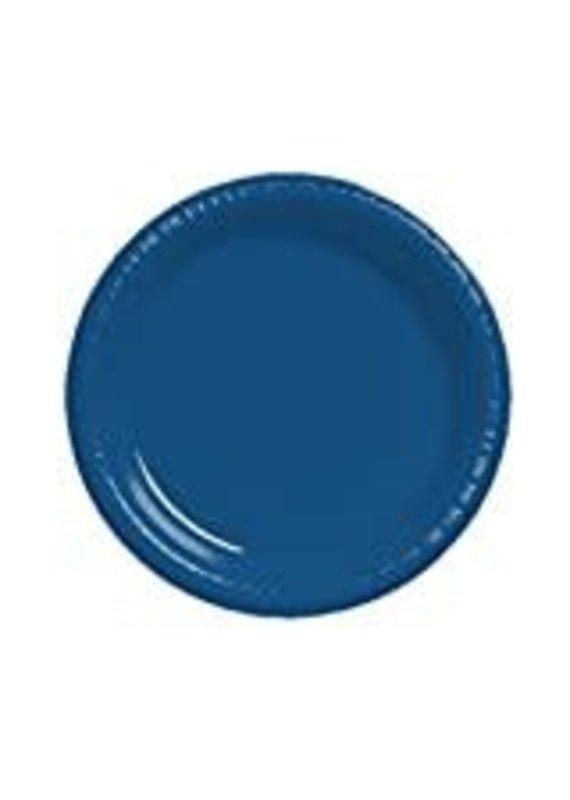"****Navy Blue 10"" Plastic Banquet Plate 20ct"