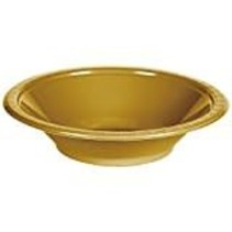 ***Glittering Gold 12oz Plastic Bowl 20ct