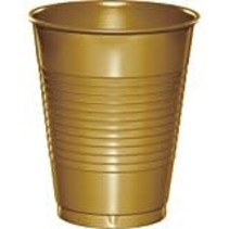 ***Glittering Gold 16oz Plastic Cup 20ct