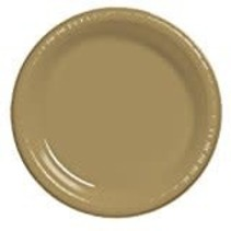 "***Glittering Gold 10"" Plastic Banquet Plate 20ct"