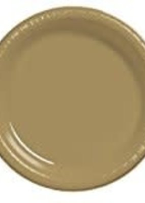 """***Glittering Gold 10"""" Plastic Banquet Plate 20ct"""