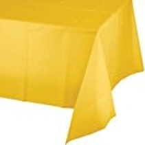 *School Bus Yellow 54x108 Plastic Tablecover