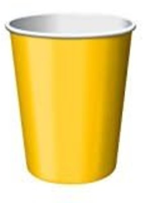 ***School Bus Yellow 9oz Hot/Cold Cups 24ct