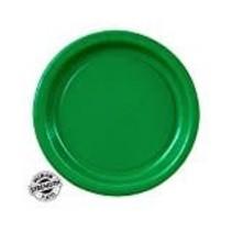"""*Emerald Green 7"""" Round Paper Dessert Plates 24ct"""