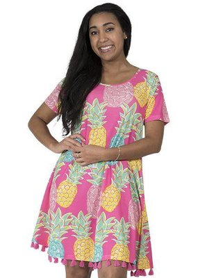 ***Charleston Short Sleeve Pineapple