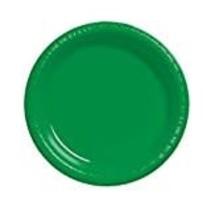 "***Emerald Green 7"" Plastic Dessert Plate 20ct"