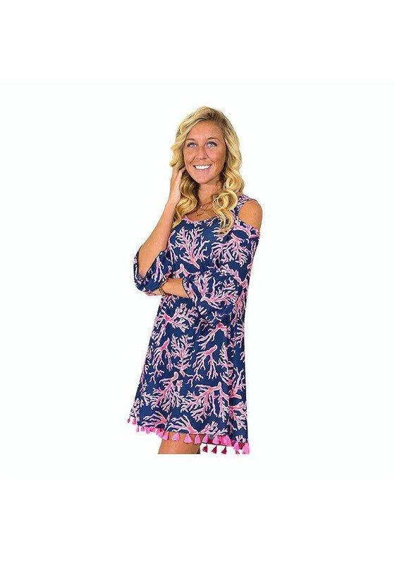 ***Naples Cold Shoulder Dress