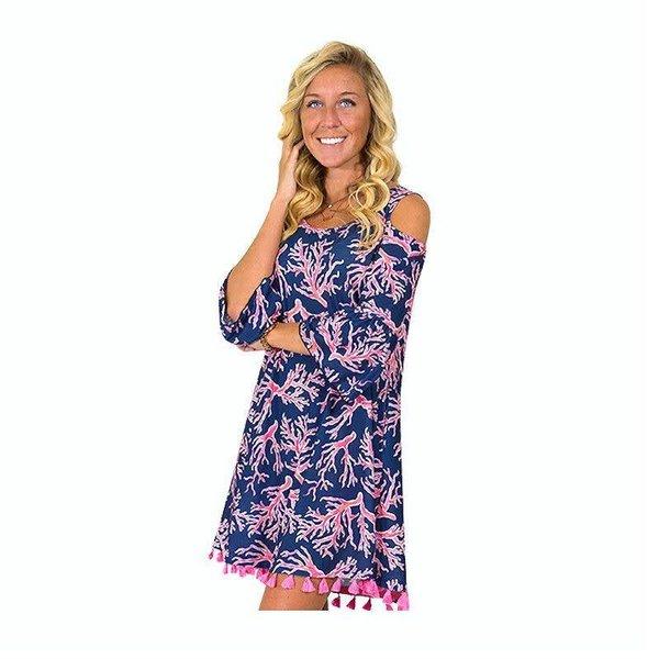 Naples Cold Shoulder Dress