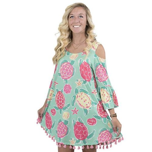 Top Sail Cold Shoulder Dress
