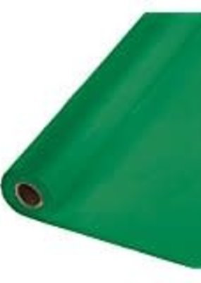***Emerald Green 100' Roll Plastic Tablecover