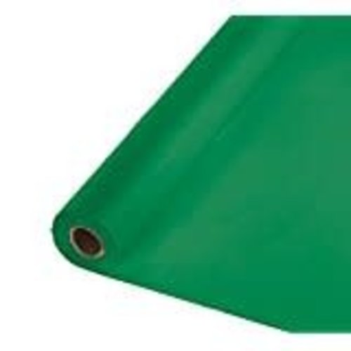 *Emerald Green 100' Roll Plastic Tablecover