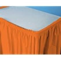 ***Sunkissed Orange 14' Plastic Table Skirt
