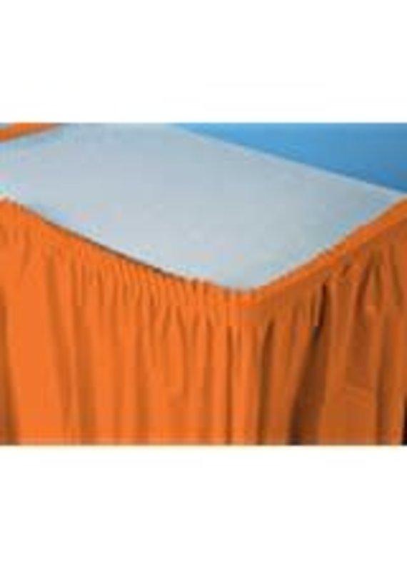 ****Sunkissed Orange 14' Plastic Table Skirt