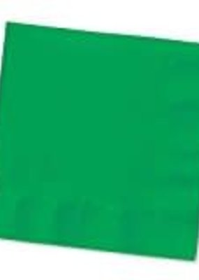 ***Emerald Green 3ply Beverage Napkins 50ct