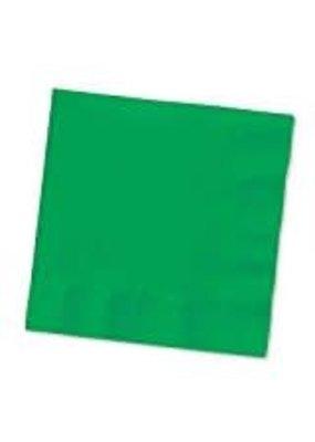 ****Emerald Green 3ply Beverage Napkins 50ct